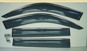 Дефлекторы окон TOYOTA LAND CRUISER PRADO 120 02-09 с молдингом (KANGLONG)