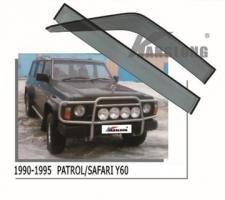 Дефлекторы окон  NISSAN SAFARI PATROL Y60 87-97 (KANGLONG)
