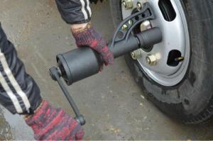 Редуктор для закручивания  откручивания колесных гаек (головка 41см, футорка 21см) большой