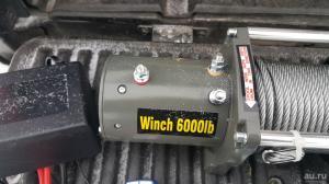 Electric Winch 6000lb  2722 кг стальной трос 12 V_1